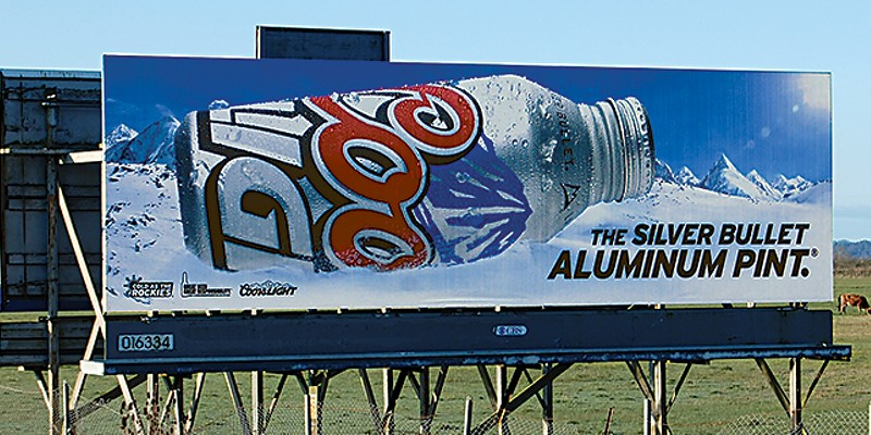 Ugly Billboards 1. Coors Light