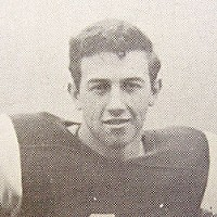 Roger Rodoni, 17-year-old Roger Rodoni in his football uniform from the 1957 Eueka High School Yearbook.