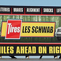 Ugly Billboards 18. Les Schwab Tires