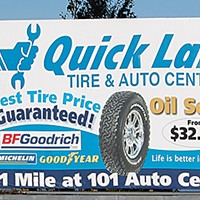 Ugly Billboards 19. Quick Lane Tire & Auto Center