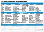 2013 Redwood Jazz Festival Schedule