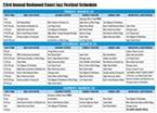 2013 Redwood Jazz Festival Schedule