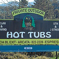 Ugly Billboards 26. Private Outdoor Hot Tubs
