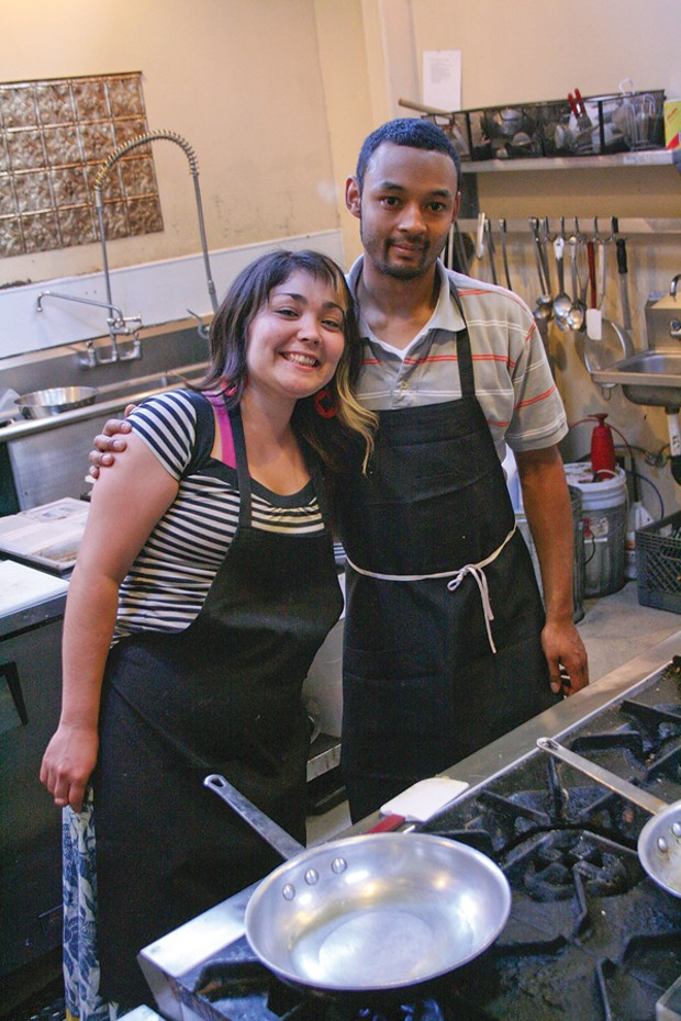3 Foods Cafe chefs Jessica Lovelady and Koki Atsumi - PHOTO BY ANDREW GOFF