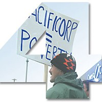 Top Ten Stories of 2007 4. The Klamath Settlement: PacifiCorp Protest in Omaha, Neb. File photo.