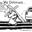 4th & A on the Via Dolorosa...