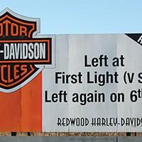 Ugly Billboards 5. Harley-Davidson