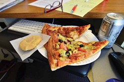 PHOTO BY DREW HYLAND - A desk-appropriate lunch with a cookie.