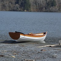 By the Breach A dory skiff built by Ken Bechtol, ready for a spin around Stone Lagoon. Photo by Heidi Walters