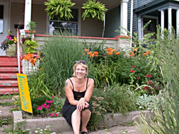 A gardener and community organizer opens her small, urban garden for GardenWalk. Photo by Amy Stewart