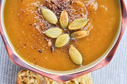 PHOTO BY SIMONA CARINI - A purÉed soup to warm your belly.
