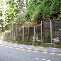 Roads and Redwoods a similar retaining wall to the one caltrans proposes, this one along highway 101 in del norte county. photo courtesy caltrans.