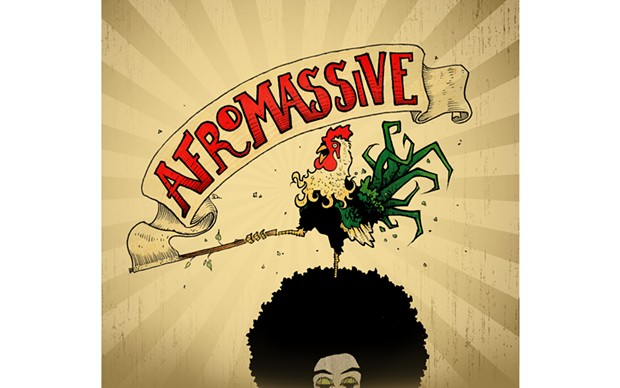 Afromassive's Gridlock cover - ARTWORK BY DREW MOHR, GRAPHIC DESIGN BY PAMELA JOHNSON