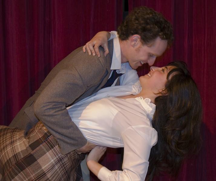Alexandra Gellner as Doris and Ilan Ben-Yehuda as George in Same Time Next Year.