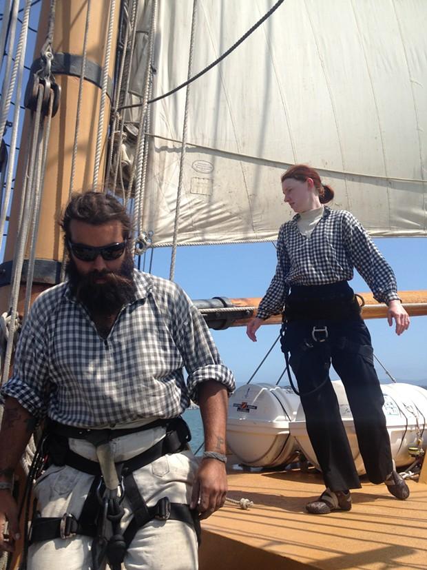 Among the more seasoned crew of the Hawaiian Chieftain. - PHOTO BY HEIDI WALTERS