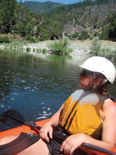 Amy Cirincione enjoys a relaxing float. - PHOTO BY JON O'CONNOR