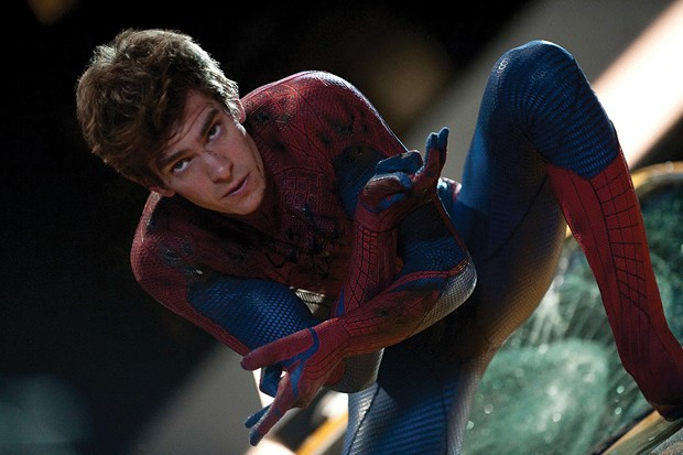 Andrew Garfield as The Amazing Spider-Man.