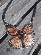 "<b>Antoinette ""Toni"" Magyar's</b> ""Monarch"" necklace at <b>Strawberry Rock Gallery</b>"