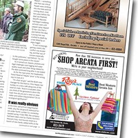"Here, There and Everywhere Arcata Chamber of Commerce ""Buy Local, Shop Arcata First!"" ad campaign."