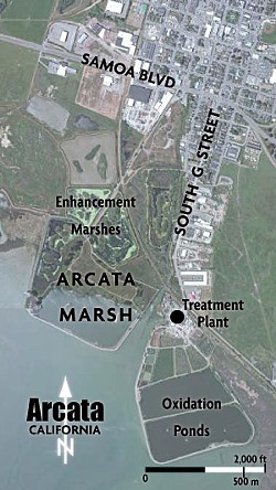 SOURCE: CITY OF ARCATA ONLINE GIS PORTAL - Arcata marsh and wastewater treatment plant.