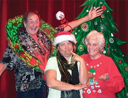PHOTO COURTESY OF ARCATA PLAYHOUSE - Arcata Playhouse presents A Recessionary Christmas with (L to R)  Bob Wells, Jacqueline Dandeneau, Lynne Wells.