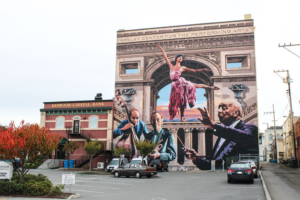 Arkley Center for Performing Arts mural - PHOTO BY THADEUS GREENSON
