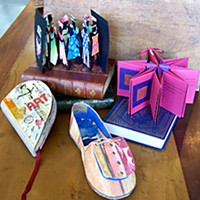 Art by NORBAG, the North Redwoods Book Arts Guild, will be on display at Eureka Books on Arts Alive!, Feb. 2.