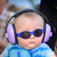 The Faces of Humboldt BaBy Fagan rocks out at Benbow State Park. By Sabra Kelly
