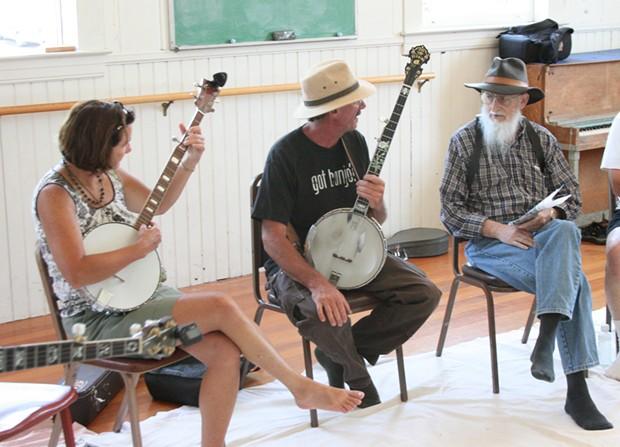 Banjo class at the Folklife Festival - PHOTO BY BOB DORAN