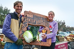PHOTO BY DREW HYLAND - Best Farmers Market Vendor (Tie): Neukom Family Farm And Lighthouse Grill.