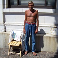 Best Old Town Sunbather: John Tutuska, all aglow