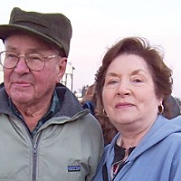 Stumped Bette Cawthon had never seen a president. Her husband Joe has seen five. Photo by Heidi Walters.