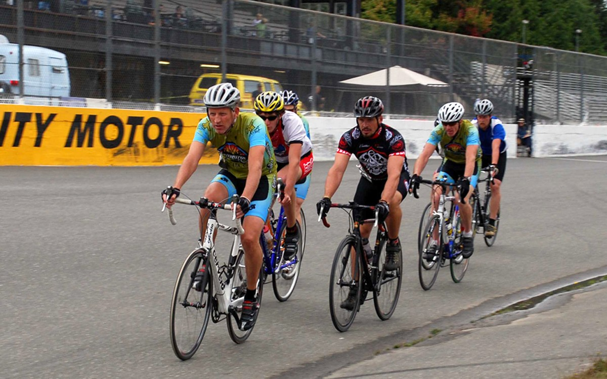 bicyclists on the track at Redwood Acres - COURTESY OF TEAM BIGFOOT