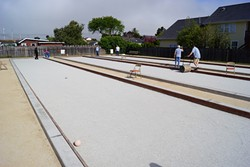 PHOTO BY REES HUGHES - Bocce ball courts at Larson Park in Arcata.
