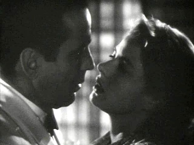 Bogie and Bergman, in a frame from the trailer for Casablanca.