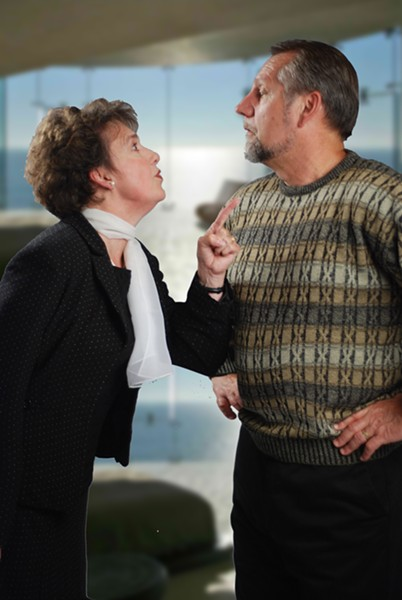 Bonnie and Ron Halverson play Marnie and Jerry in Show People - COURTESY OF REDWOOD CURTAIN