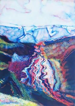 MONOPRINT BY CLAIRE IRIS SCHENCKE - Braided River Krossa