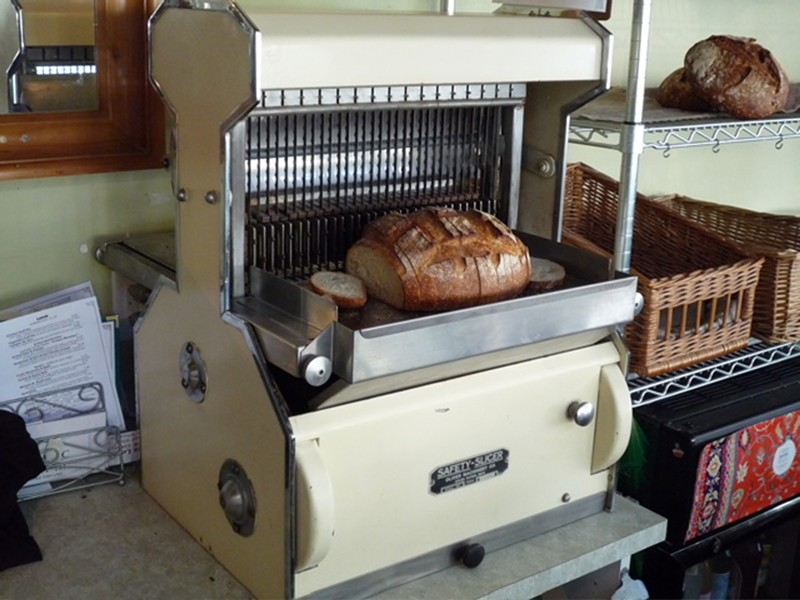 Bread slicer at Café Brio - PHOTO COURTESY OF CAFÉ BRIO