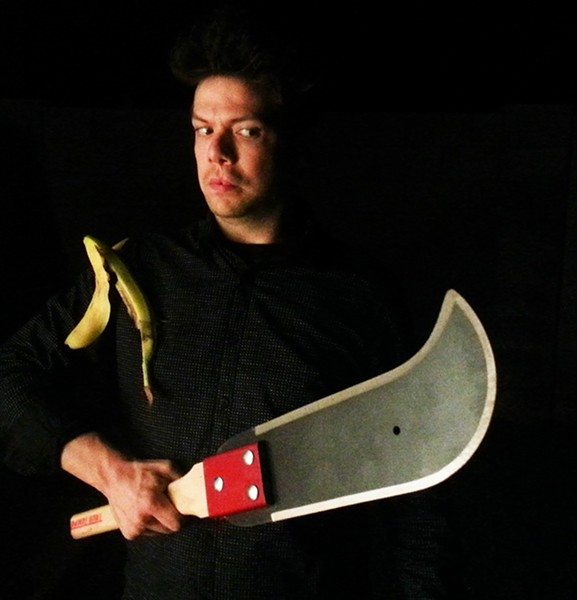 Brent Fiasco has one foot on a banana peel.