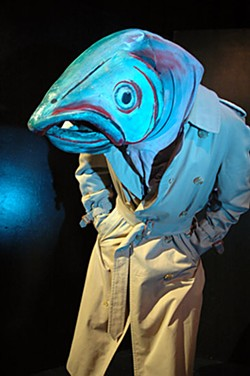 Brian Moore as Deep Trout in Incident at Ah-Pah. Courtesy of Dell'Arte. Courtesy of Dell'Arte