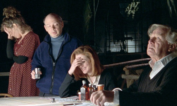 Brooke Smith, Wallace Shawn, Julianne Moore and George Gaynes in Vanya on 42nd Street. - COURTESY OF CRITERION COLLECTION