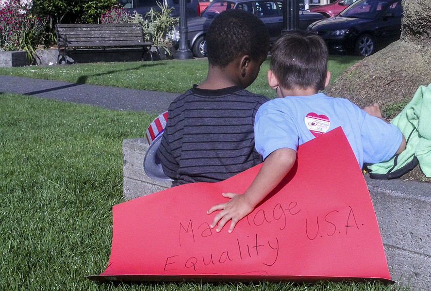 Brothers Kaiden, 6, and Alexander, 5. - KIM HODGES