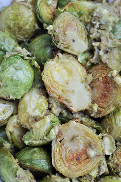 Brussels Sprouts with Avocado - PHOTO BY SIMONA CARINI