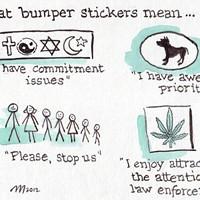 Bumper Sticker Meanings