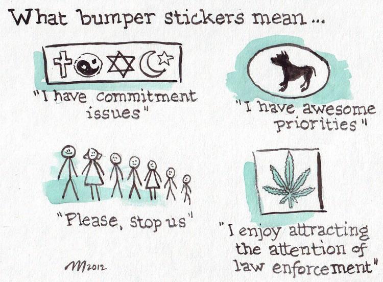Bumper Sticker Meanings - JOEL MIELKE
