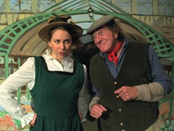 COURTESY OF NCRT - Caitlin McMurtry as Eliza Doolittle, Bob Wells as Alfred Doolittle in NCRT's My Fair Lady