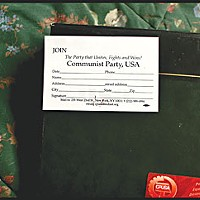 Seeing Red Card-carrying communist: The red card below is Langdon's official CPUSA membership card. Photo by Yulia Weeks