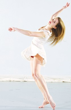 """PHOTO COURTESY OF HSU - Carrie Walpole in her solo dance, """"In the Void."""""""
