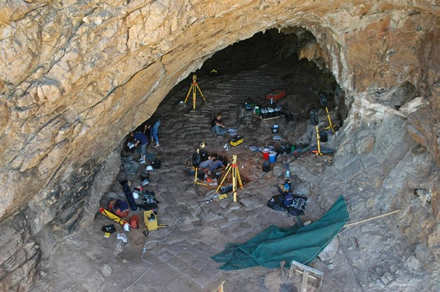 Cave 13B, Pinnacle Point. - PHOTO COURTESY OF SACP4, ARIZONA STATE UNIVERSITY, DIRECTOR CURTIS W. MAREAN.