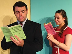 PHOTO COURTESY OF NCRT. - Chris Hamby and Haley Katz in NCRT's corporate musical.